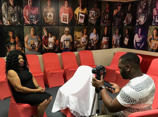 Under the guidance of James Okina, Lynn University interns and volunteers create fund raising video for MAMA